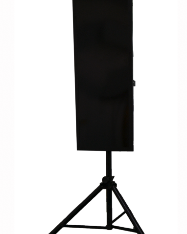 home yoga heater on a stand
